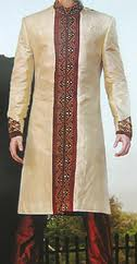 Sherwani in Qadarif - Image - Small